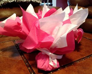 Pink and White Valentine Bon Bon Bags