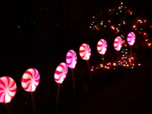 Color changing pathway peppermints (part of our old decorations)