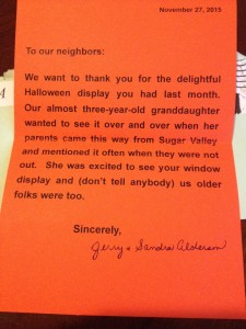 Halloween Thank You Letter